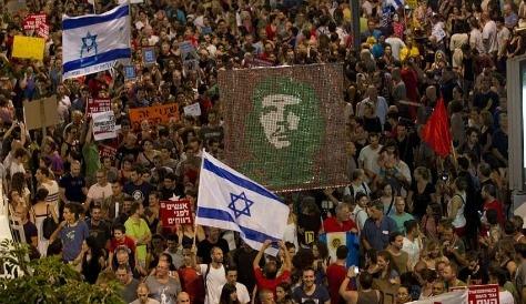 israel-protest che guevara